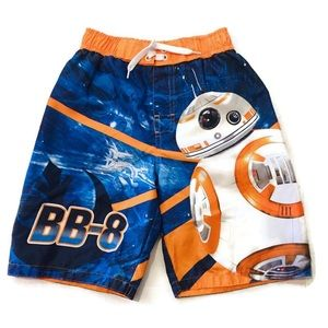 3/$15 Star Wars BB8 Swim Shorts Trunks Size 7